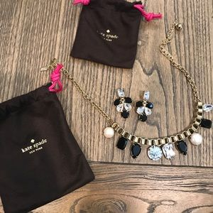 Kate Spade statement necklace & earrings